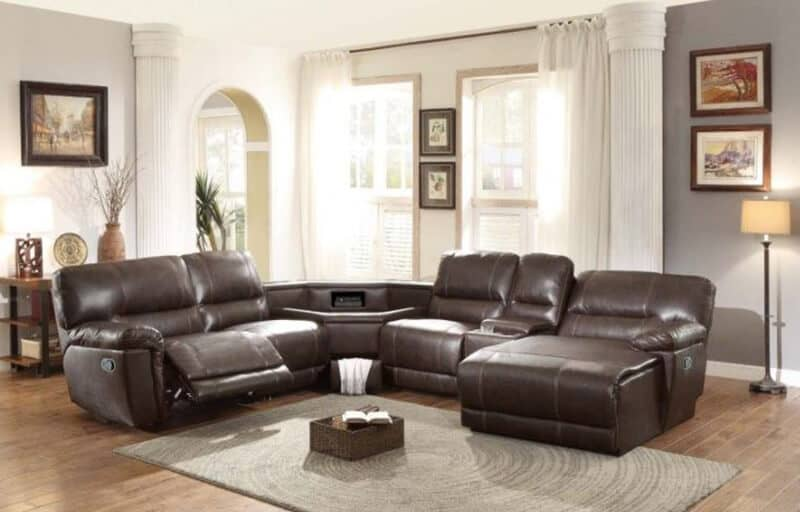 Top Rated 17 Best Leather Sectional Sofa Brands