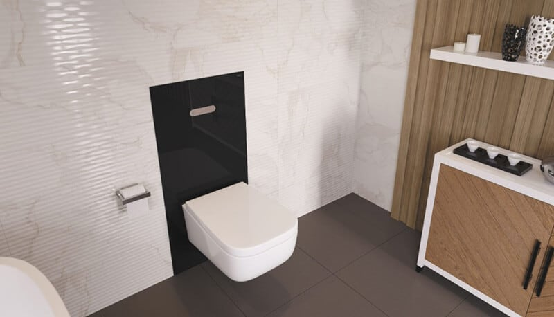 best wall hung space saver toilet