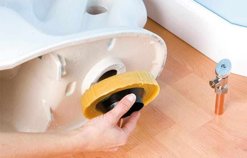 best way to install wax ring on toilet