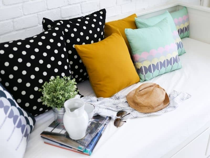 Add a couple of decorative pillows